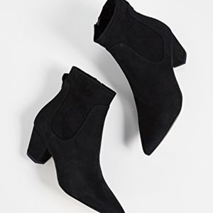 Sam Edelman Karlee Black suede ankle boots new